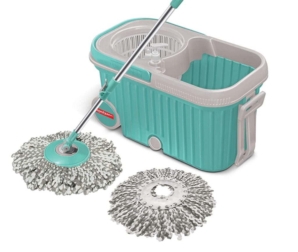 Spin Mop with Bigger Wheels